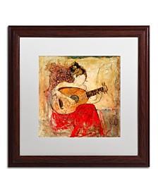 """Joarez 'Vanessa' Matted Framed Art - 16"""" x 16"""""""