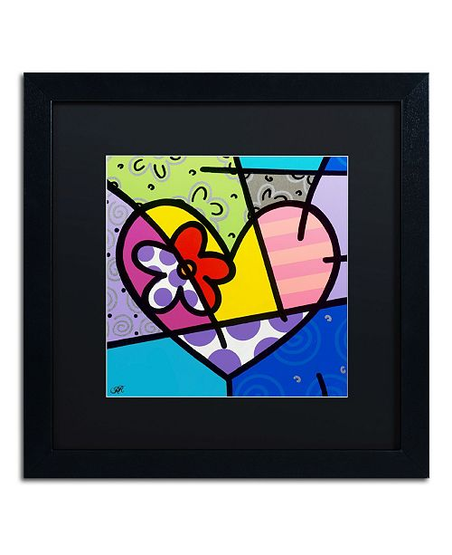 "Trademark Global Roberto Rafael 'Big Heart III' Matted Framed Art - 16"" x 16"""