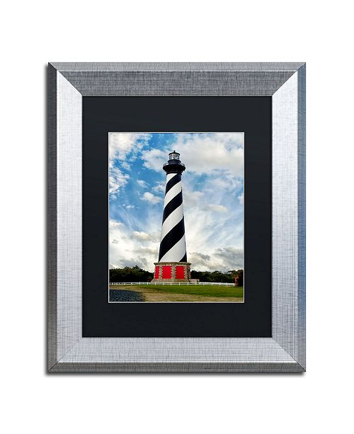"Trademark Global PIPA Fine Art 'Cape Hatteras Lighthouse' Matted Framed Art - 11"" x 14"""