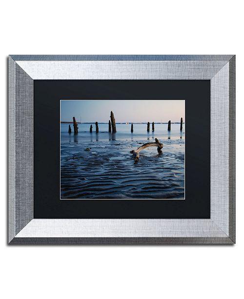 "Trademark Global PIPA Fine Art 'Driftwood And Sandbars' Matted Framed Art - 11"" x 14"""