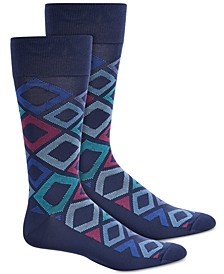 Men's Microfiber Diamond-Print Socks