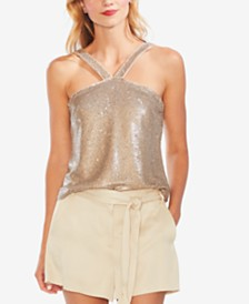 Vince Camuto Sequined Halter Top