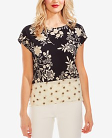 Vince Camuto Mixed Floral Print Top