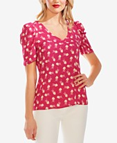 d554eda276 Vince Camuto Ditsy Floral-Print Puff-Sleeve Top
