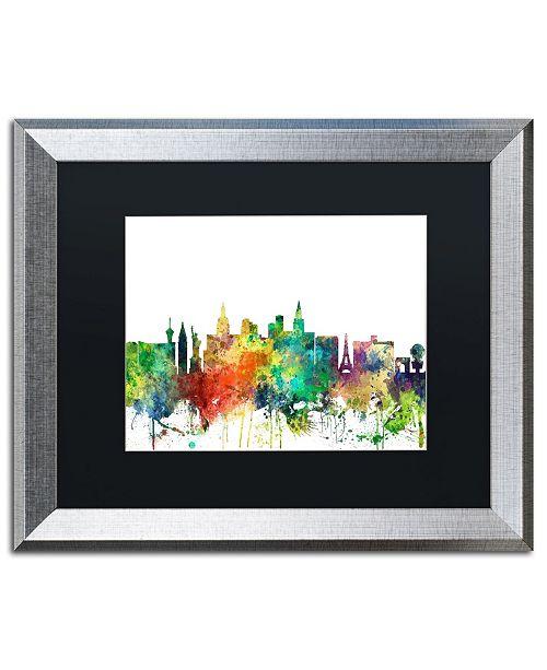 "Trademark Global Marlene Watson 'Las Vegas Nevada Skyline SP' Matted Framed Art - 16"" x 20"""