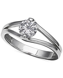 Giani Bernini Cubic Zirconia Solitaire Ring in Sterling Silver, Created for Macy's