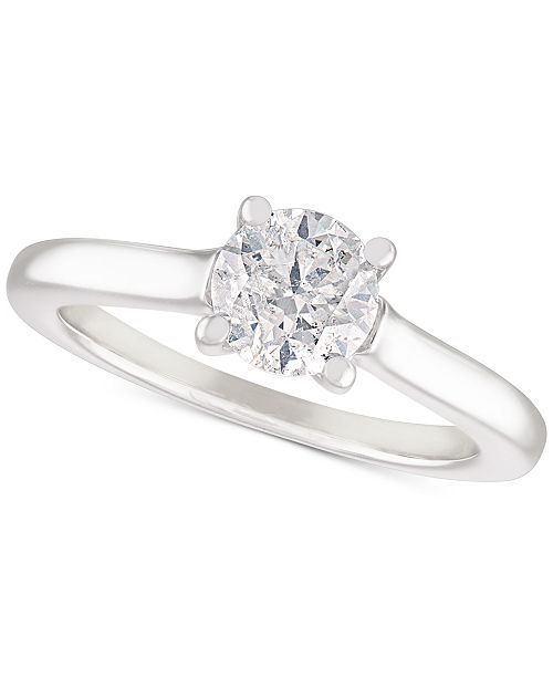 Macy's Diamond Solitaire Engagement Ring (1 ct. t.w.) in 14k White Gold