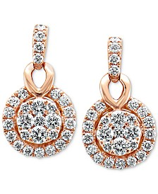Le Vian® Vanilla Diamonds® Drop Earrings (1-1/20 ct. t.w.) in 14k Rose Gold