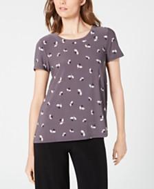 Anne Klein Printed High-Low T-Shirt