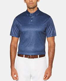 PGA TOUR Men's Leaf-Print Performance Golf Polo