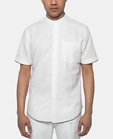 Sean John Men's White Party Regular-Fit Band-Collar Shirt