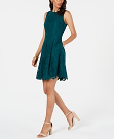 Vince Camuto Petite Lace A-Line Dress
