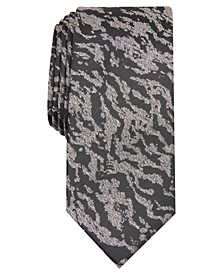 INC Men's Grant Zebra Abstract Skinny Tie, Created for Macy's