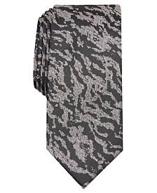 I.N.C. Men's Grant Zebra Abstract Skinny Tie, Created for Macy's