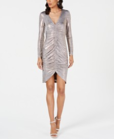 Vince Camuto Ruched Metallic Bodycon Dress