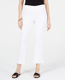 I.N.C. Curvy Ruffled-Hem Ankle Skinny Pants, Created for Macy's