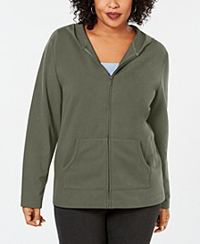 Plus Size Hoodie Jacket, Created for Macy's