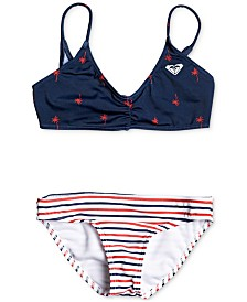 Roxy Toddler & Little Girls Stars & Stripes Bikini