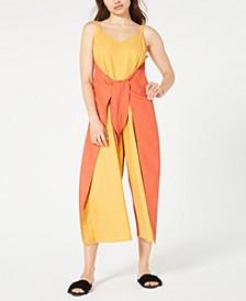 Linen Tie-Front Jumpsuit