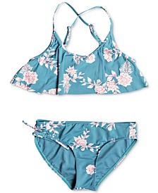 Roxy Big Girls 2-Pc. Flutter Bikini