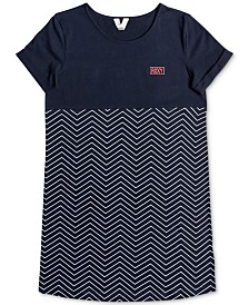 Roxy Big Girls Cotton Zigzag Dress