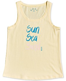 Roxy Big Girls Graphic-Print Cotton Tank Top