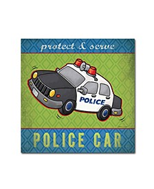 "Stephanie Marrott 'Police' Canvas Art - 14"" x 14"""