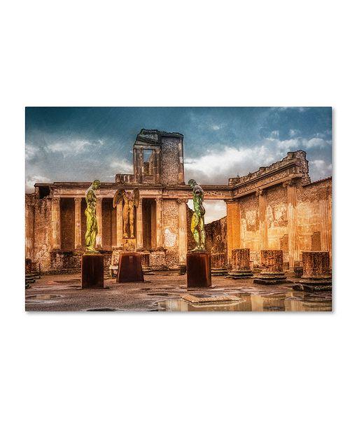 "Trademark Global Erik Brede 'The Basilica of Pompeii' Canvas Art - 12"" x 19"""