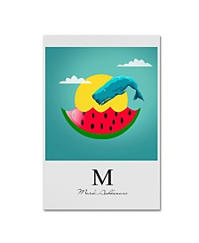 "Mark Ashkenazi 'Watermelon 2' Canvas Art - 12"" x 19"""