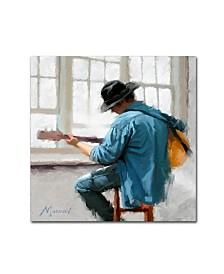 "The Macneil Studio 'Guitar Player' Canvas Art - 14"" x 14"""