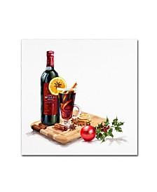 "The Macneil Studio 'Mulled Wine' Canvas Art - 14"" x 14"""