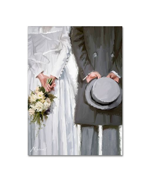 "Trademark Global The Macneil Studio 'Bride and Groom' Canvas Art - 14"" x 19"""