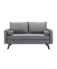 Carmel Modern Style Loveseat With Fabric Upholstery