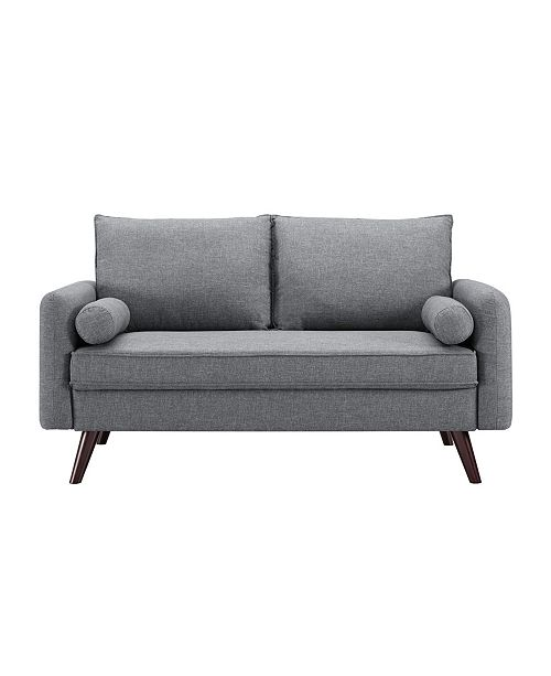 Lifestyle Solutions Carmel Modern Style Loveseat With Fabric Upholstery
