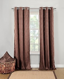 "Mollie 40"" x 84"" Tonal Print Curtain Set"