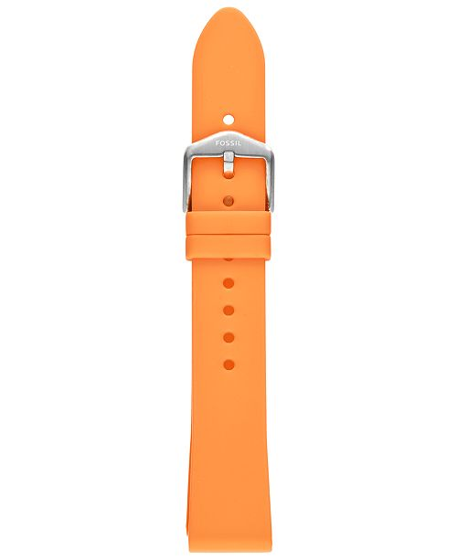 Fossil Unisex Sport Tangerine Silicone Smart Watch Strap
