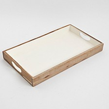 Laurie Gates Enamel & Wood Tray