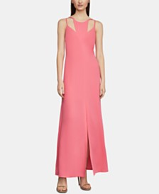 BCBGMAXAZRIA Cutout-Neck Maxi Dress