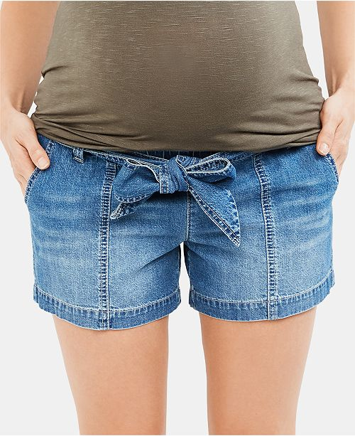 Jessica Simpson Maternity Tie-Front Shorts