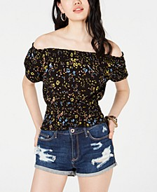 Juniors' Off-The-Shoulder Prairie Top