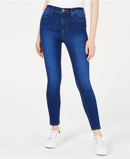 Celebrity Pink Juniors' High-Rise Ankle Skinny Jeans
