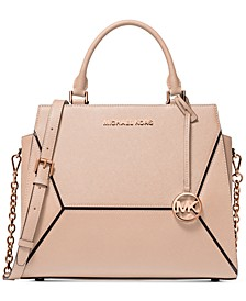 Prism Saffiano Leather Satchel