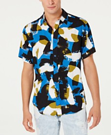 GUESS Men's Abstract Print Shirt