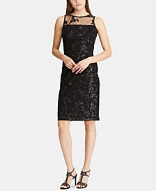 Sequined Embroidery Cocktail Dress