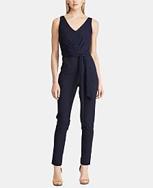 Lauren Ralph Lauren Tie-Front Crepe Jumpsuit