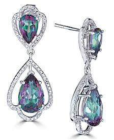 Mystic Quartz (7-1/2 ct. t.w.) & White Topaz (1/10 ct.t .w.) Drop Earrings in Sterling Silver