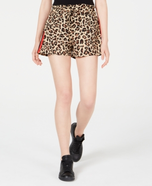 Almost Famous Juniors' Soft Shorts In Leopard