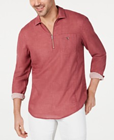 I.N.C. International Concepts Men's Leo Quart-Zip Shirt