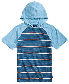 Big Boys Gariel Colorblocked Stripe Hooded Raglan-Sleeve T-Shirt