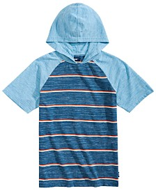 Univibe Big Boys Gariel Colorblocked Stripe Hooded Raglan-Sleeve T-Shirt